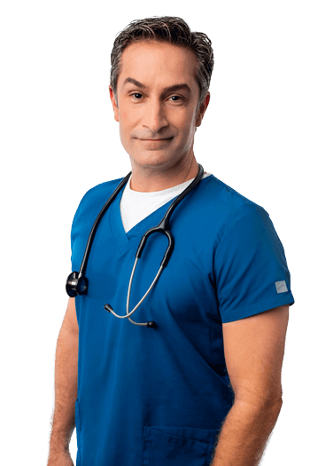 man nurse with stethoscope