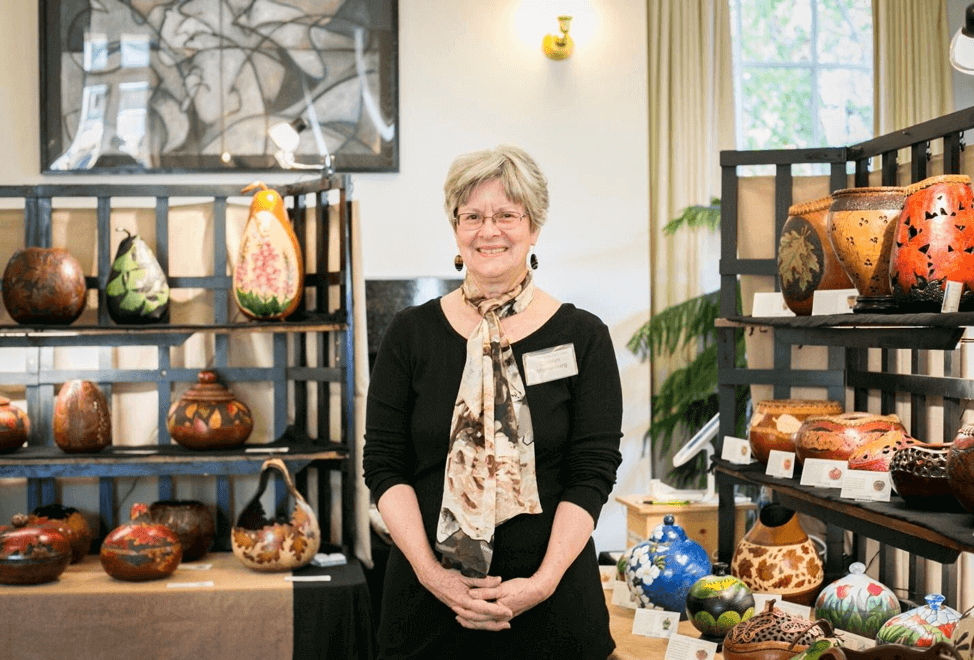carolyn whittenburg in gourd shop